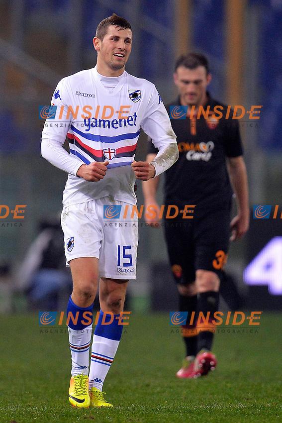 Pawel Wszolek Sampdoria <br /> Roma 09-01-2014 Stadio Olimpico - Football Calcio Coppa Italia 2013/2014 AS Roma - Sampdoria Foto Andrea Staccioli / Insidefoto