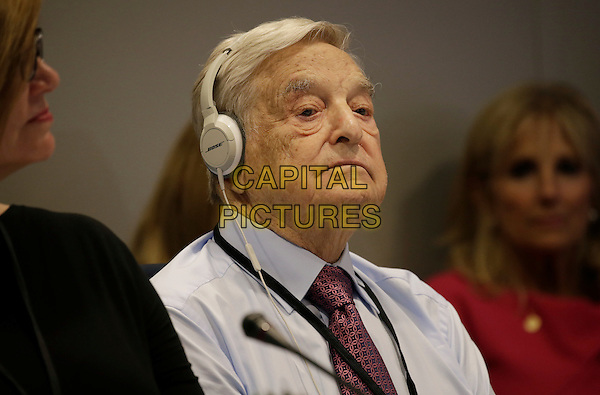 Hungarian-American business investor, George Soros attends a Private Sector CEO Roundtable Summit for Refugees during the United Nations 71st session of the General Debate at the United Nations General Assembly at United Nations headquarters in New York, New York, USA, 20 September 2016.<br /> <br /> CAP/MPI/RS<br /> &copy;RS/MPI/Capital Pictures