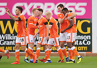 Blackpool's Joe Dodoo celebrates scoring the opening goal with team-mate Ben Heneghan<br /> <br /> Photographer Kevin Barnes/CameraSport<br /> <br /> Emirates FA Cup First Round - Exeter City v Blackpool - Saturday 10th November 2018 - St James Park - Exeter<br />  <br /> World Copyright © 2018 CameraSport. All rights reserved. 43 Linden Ave. Countesthorpe. Leicester. England. LE8 5PG - Tel: +44 (0) 116 277 4147 - admin@camerasport.com - www.camerasport.com