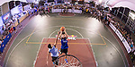 Huang (R) of Taiwan plays against Hsueh (L) of Taiwan during the Red Bull King of the Rock National Finals at Kaohsiung University basketball court, Kaohsiung, Taiwan, on July 18th 2015.