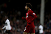 17th March 2019, Craven Cottage, London, England; EPL Premier League football, Fulham versus Liverpool; A dejected Mohamed Salah of Liverpool as he misses a chance on goal