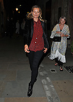 Kate Moss at the &quot;Britten in Brooklyn&quot; press night performance, Wilton's Music Hall, Graces Alley, London, England, UK, on Friday 02 September 2016.<br /> CAP/CAN<br /> &copy;CAN/Capital Pictures /MediaPunch ***NORTH AND SOUTH AMERICAS ONLY***