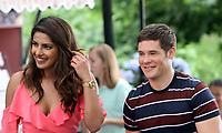 NEW YORK, NY July 11, 2017  Priyanka Chopra,  Adam Devine shooting on location for Newline Cinema film  Isn't It Romantic in Central Park New York July 11, 2017. Credit:RW/MediaPunch