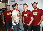 Christian Borle and cast backstage at United presents 'Stars in the Alley' in  Shubert Alley on May 27, 2015 in New York City.