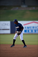 AZL Brewers Blue second baseman Orveo Saint (30) during an Arizona League game against the AZL Rangers on July 11, 2019 at American Family Fields of Phoenix in Phoenix, Arizona. The AZL Rangers defeated the AZL Brewers Blue 5-2. (Zachary Lucy/Four Seam Images)
