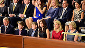 The family of incoming Speaker of the United States House of Representatives Paul Ryan (Republican of Wisconsin) watches the proceedings from the Gallery of the US House Chamber in the US Capitol in Washington, DC on Thursday, October 29, 2015. Seated behind them at right are Ann Romney and former Governor Mitt Romney (Republican of Massachusetts), the 2012 Republican Party nominee for President of the US, who selected Ryan as his running mate.<br /> Credit: Ron Sachs / CNP
