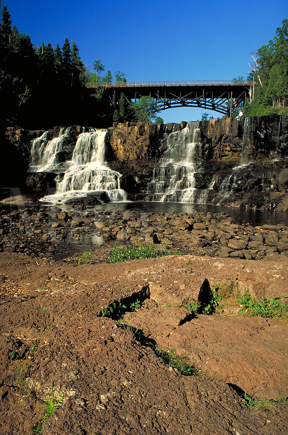 Gooseberry Falls, Gooseberry River, Gooseberry Falls State Park near Two Harbors. Two Harbors Minnesota USA Lake Superior.
