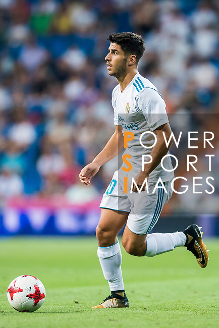 Marco Asensio Willemsen of Real Madrid in action during the Santiago Bernabeu Trophy 2017 match between Real Madrid and ACF Fiorentina at the Santiago Bernabeu Stadium on 23 August 2017 in Madrid, Spain. Photo by Diego Gonzalez / Power Sport Images
