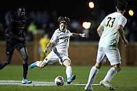 WINSTON-SALEM, NC - DECEMBER 01: Harry Pithers #14 of the University of Michigan takes a shot during a game between Michigan and Wake Forest at W. Dennie Spry Stadium on December 01, 2019 in Winston-Salem, North Carolina.