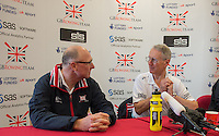 Caversham. Berkshire. UK<br /> Left , Paul THOMPSON and right. Sir David TANNER<br /> 2016 GBRowing European Team Announcement,  <br /> <br /> Wednesday  06/04/2016 <br /> <br /> [Mandatory Credit; Peter SPURRIER/Intersport-images]