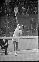American tennis player Pancho Gonzales vs Australian Ken Rosewall, Madison Square Garden, 1957. Photograph by John G. Zimmerman.