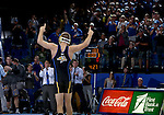BROOKINGS, SD - NOVEMBER 4:  Seth Gross from South Dakota State celebrates his win over Nathan Boston from Iowa State in their 133 pound match Friday evening at Frost Arena in Brookings. (Photo by Dave Eggen/Inertia)