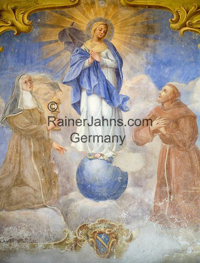 ITA, Italien, Umbrien, Assisi: Fresko - Wandmalerei   ITA, Italy, Umbria, Assisi: fresco - mural painting