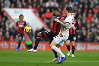 Callum Wilson of AFC Bournemouth holds off Victor Lindelöf of Manchester United during AFC Bournemouth vs Manchester United, Premier League Football at the Vitality Stadium on 3rd November 2018
