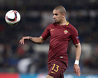 Football Soccer: Europa League Round of 16 second leg, Roma-Lyon, stadio Olimpico, Roma, Italy, March 16,  2017. <br /> Roma's Bruno Peres in action during the Europe League football soccer match between Roma and Lyon at the Olympique stadium, March 16,  2017. <br /> Despite losing 2-1, Lyon reach the quarter finals for 5-4 aggregate win.<br /> UPDATE IMAGES PRESS/Isabella Bonotto