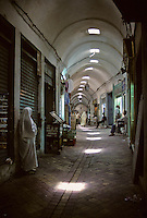 Tunisia.  Tunis Medina.  Vaulted Passageways in the Tunis Medina.