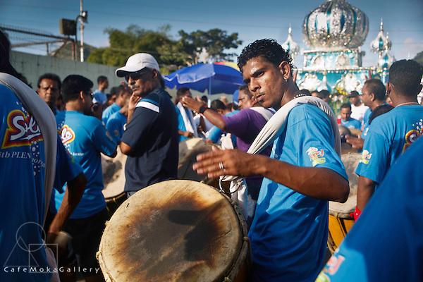 Muslim Festival of Hosay, Tassa Drummers and Tadjah