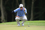 Edoardo Molinari (ITA) lines up his putt on the 1st green during the Final Day of the BMW PGA Championship Championship at, Wentworth Club, Surrey, England, 29th May 2011. (Photo Eoin Clarke/Golffile 2011)