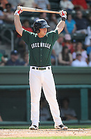 Infielder David Renfroe (16) of the Greenville Drive, Class A affiliate of the Boston Red Sox, in a game against the Charleston RiverDogs on May 15, 2011, at Fluor Field at the West End in Greenville, S.C. Photo by Tom Priddy / Four Seam Images