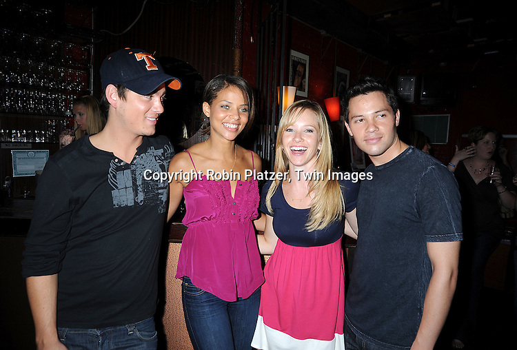 One Life to Live Actors Jason Tam, All My Children's Denise Vasi, Justis Bolding and Brandon Buddy..at Justis Bolding's Fan Club Event on August 16, 2008 at ..Prohibtion in New York City. ....Robin Platzer, Twin Images