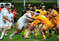 Action from the rugby match between  New Zealand Schools Barbarians and NZ Maori Under-18 at the Sport and Rugby Institute in Palmerston North, New Zealand on Monday, 2 October 2017. Photo: Dave Lintott / lintottphoto.co.nz