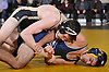 Joseph Moore of Wantagh, top, battles Steve McMullen of Bethpage at 138 pounds during a Nassau County varsity wrestling match at Wantagh High School on Wednesday, Dec. 19, 2018. Moore won the match by technical fall.
