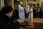 The priest performs Christmas mass at the Christmas Church in Odessa, Ukraine on January 7, 2016.  Orthodox Christians around the world celebrate Christmas on January 7.