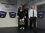 All Black Reuben Thorne and Coach Graham Henry take to the field to warm up before the first international rugby test at Eden Park, Auckland, New Zealand, Saturday, June 02, 2007. The All Blacks beat France 42-11.