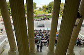 Washington, DC - August 29, 2009 -- A hearse carrying Senator Edward Kennedy (D-MA) stops in front of the Senate steps at the US Capitol on August 29, 2009 in Washington. Kennedy who died earlier this week will be buried at Arlington Cemetery near his brothers John F. Kennedy and Robert Kennedy..Credit: Mark Wilson - Pool via CNP.Credit: Tim Sloan - Pool via CNP
