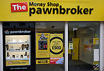 The Money Shop Pawnbroker shop in central business district of Swindon, England
