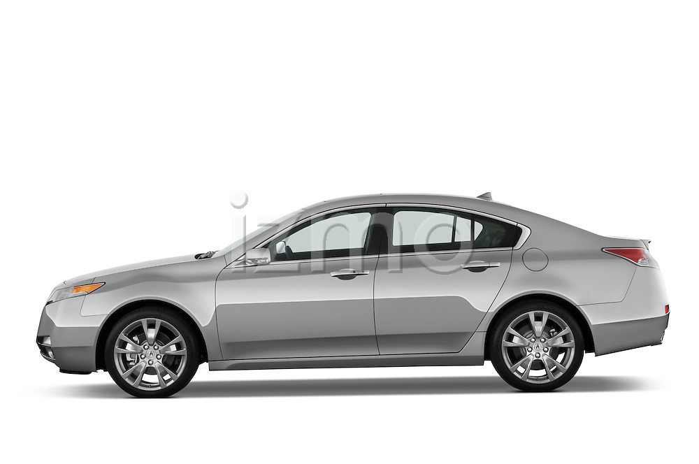 Driver side profile view of a 2009 - 2014 Acura TL SH AWD Sedan.