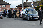 the Funeral of Dermot Finglas JNR in Our lady of Lourdes Church.Picture:  www.newsfile.ie ..