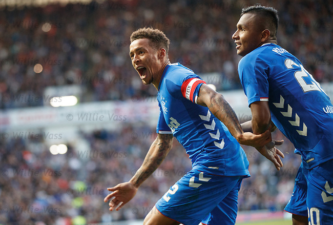 09.08.18 Rangers v Maribor: James Tavernier celebrates