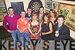 Ringing in the New Year in Walsh's Bar, Knocknagoshal were l-r: Andy John Murphy, Bat Curtin, Diarmaid Brosna, Eileen O'Connor, John O'Connor, Sheila Piggott, Tanya Murphy and Donal Mangan.