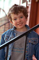 Boy age 4 smiling.  St Paul  Minnesota USA