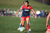 Piscataway, NJ, April 24, 2016.  Forward Kaite Stengel (12) of the Washington Spirit turns the ball upfield.  The Washington Spirit defeated Sky Blue FC 2-1 during a National Women's Soccer League (NWSL) match at Yurcak Field.