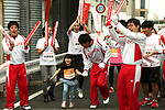 September 30, 2017, Tokyo, Japan - The last runner of a little girl is on the way to the finish line of a family run at a charity run for the Special Olympics at Toyota's showroom Mega Web in Tokyo on Saturday, September 30, 2017. Some 1,800 people participated the charity event as Japan's Special Olympic Games will be held in Aichi in 2018.   (Photo by Yoshio Tsunoda/AFLO) LWX -ytd-