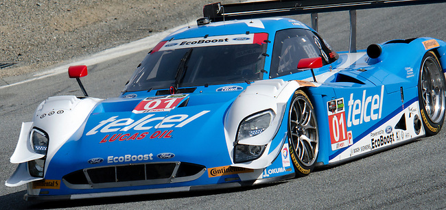 Monterey California, May 4, 2014, Laguna Seca Monterey Grand Prix,3rd place finisher Scott Pruett in the Telcel Ford EcoBoost Riley.