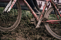 race conditions...<br /> <br /> Junior Men's Race<br /> Belgian National CX Championschips<br /> Kruibeke 2019