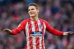 Kevin Gameiro of Atletico de Madrid gestures during the La Liga 2017-18 match between Atletico de Madrid and Athletic de Bilbao at Wanda Metropolitano  on February 18 2018 in Madrid, Spain. Photo by Diego Souto / Power Sport Images