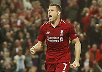 Liverpool midfielder James Milner celebrates scoring the second goal during the UEFA Champions League - Group C match at the Anfield Stadium, Liverpool. Picture date 18th September 2018. Picture credit should read: Andrew Yates/Sportimage PUBLICATIONxNOTxINxUK  <br /> Uefa Champions League 2018/2019 <br /> Foto Imago / Insidefoto <br /> ITALY ONLY