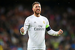 Real Madrid's Sergio Ramos celebrates the victory in the Champions League 2015/2016 Quarter-finals 2nd leg match. April 12,2016. (ALTERPHOTOS/Acero)