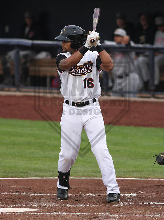 DAVENPORT - May 2015: Quad Cities River Bandits outfielder Jason Martin (16) during a Midwest League game against the Wisconsin Timber Rattlers on May 8th, 2015 at Modern Woodmen Park in Davenport, Iowa.  Quad Cities defeated Wisconsin 11-6.  (Brad Krause/Krause Sports Photography)