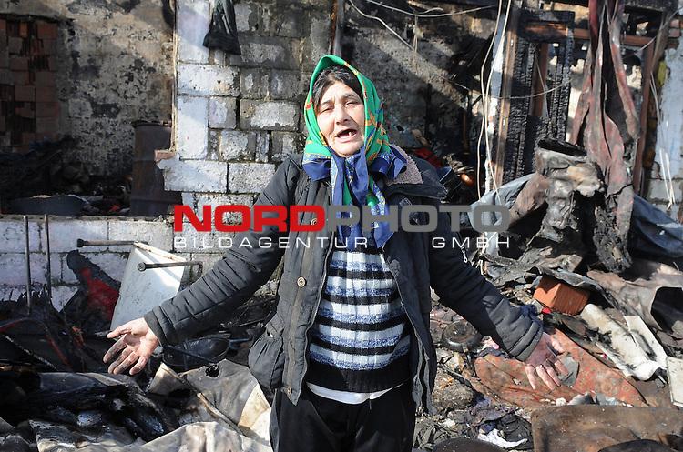 04.02.2013.,Zagreb, Croatia - Fire  destroyed four barracks  in Pescenica., Masic Mensura <br /> <br /> Foto &copy;  nph / PIXSELL / Davor Visnjic