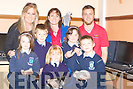 PETS: Pet Mania visits the Ardfert National School on Tuesday with some pets from Pet Mania Manor Retail Park, Tralee. Front l-r: Jessica Murphy, Brian Shanahan, Fiona Sheehan, Ali Cavanagh and Rory Dowling. Back l-r: Betty Stack, Linda Cavanagh and Luke Sutton..