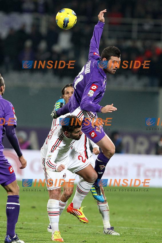 """Andrea Lazzari Fiorentina Antonio Nocerino Milan..Firenze 19/11/2011 Stadio """"Franchi""""..Football / Calcio Serie A 2011/2012..Fiorentina vs Milan..Foto Paolo Nucci Insidefoto"""