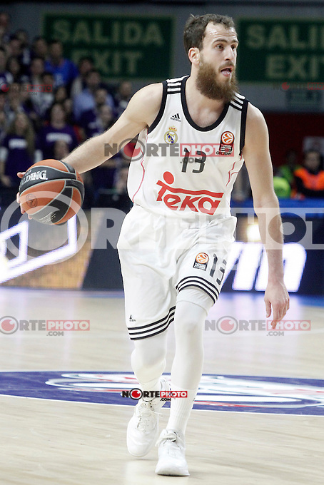 Real Madrid's Sergio Rodriguez during Euroleague match.January 22,2015. (ALTERPHOTOS/Acero) /NortePhoto<br />