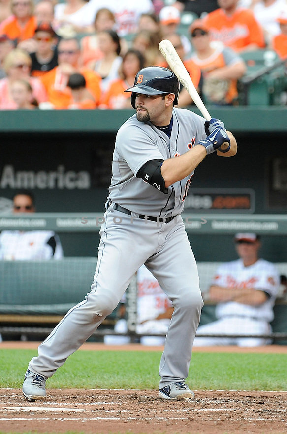 Detroit Tigers Alex Avila (13) during a game against the Baltimore Orioles on June 2, 2013 at Oriole Park in Baltimore, MD. The Orioles beat the Tigers 4-2.