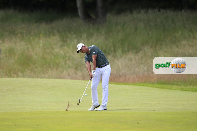 Christiaan Bezuidenhout (RSA) on the 2nd during Round 4 of the Aberdeen Standard Investments Scottish Open 2019 at The Renaissance Club, North Berwick, Scotland on Sunday 14th July 2019.<br /> Picture:  Thos Caffrey / Golffile<br /> <br /> All photos usage must carry mandatory copyright credit (© Golffile   Thos Caffrey)