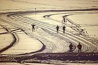 Europe/France/Franche Comté/39 /Jura/Les Rousses: Ski de Fond dans la lumière chaude de fin d'aprés midi // France, Jura, Les Rousses, Cross-country skiing